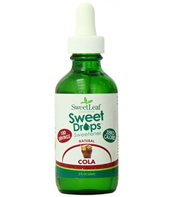 [Sweet Leaf] Liquid Stevia Sweetner, Sweet Drops Stgevia Extract, Cola