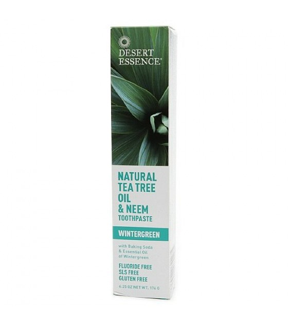 [Desert Essence] Oral Care Tthpst,Tea Tree Oil/Neem w/Wintergrn