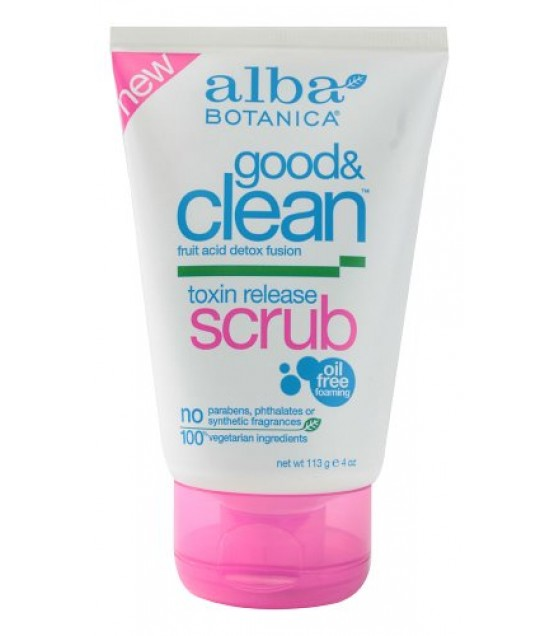 [Alba Botanica] Facial Care Products Toxin Release Scrub, Good & Clean