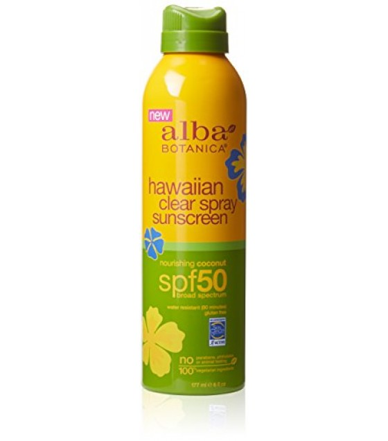 [Alba Botanica] Displays (Special Order Only) Sunscreen, Coconut SPF 50