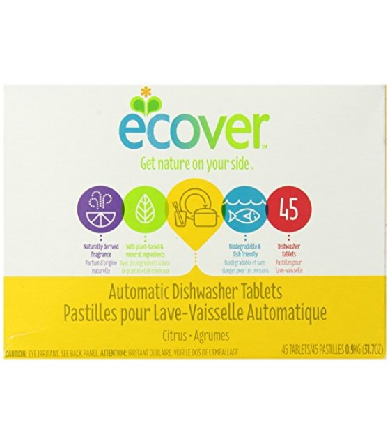[Ecover] Dish Tablets, Citrus, 45 Ct