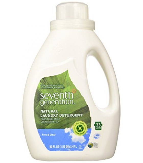 [Seventh Generation] High-Efficiency Laundry Products Liquid Conc, Free & Clear