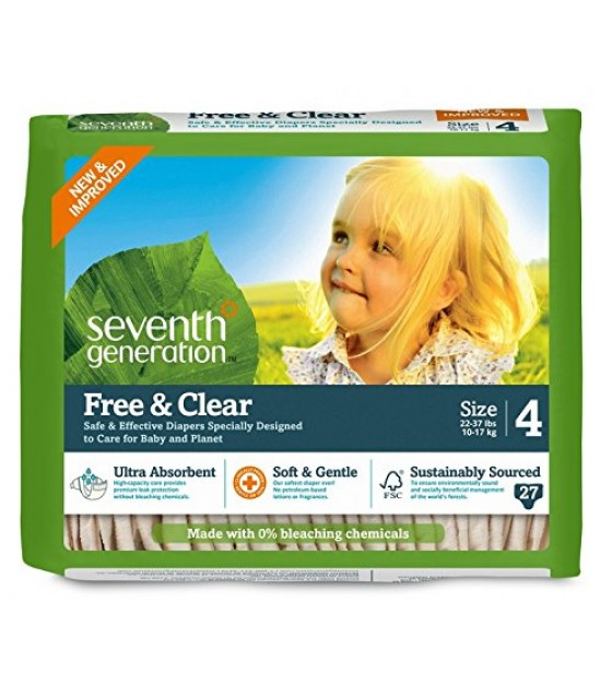 [Seventh Generation] Diapers Stage 4, 22-37 lb