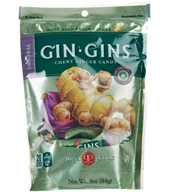 [Ginger People] Gin Gins Chews, Original, Bag