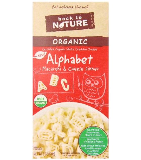 [Back To Nature] Macaroni & Cheese Alphabet  At least 95% Organic