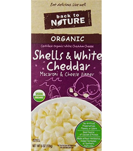 [Back To Nature] Organic Macaroni & Cheese Shells & White Cheddar  At least 95% Organic