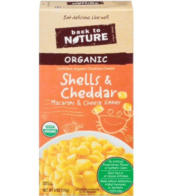 [Back To Nature] Organic Macaroni & Cheese Shells & Cheese Dinner  At least 95% Organic