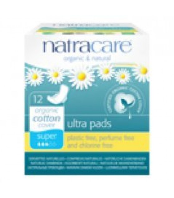 [Natracare] Feminine Hygiene Products Ultra Pad w/Wings, Super