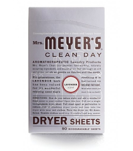[Mrs Meyers Clean Day] Laundry Supplies Dryer Sheets, Lavender