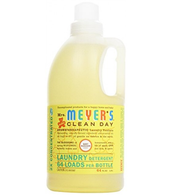 [Mrs Meyers Clean Day] Baby Blossom Laundry Detergent, 64 Loads
