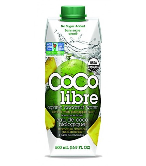 [Coco Libre]  Coconut Water w/Pineapple  At least 95% Organic