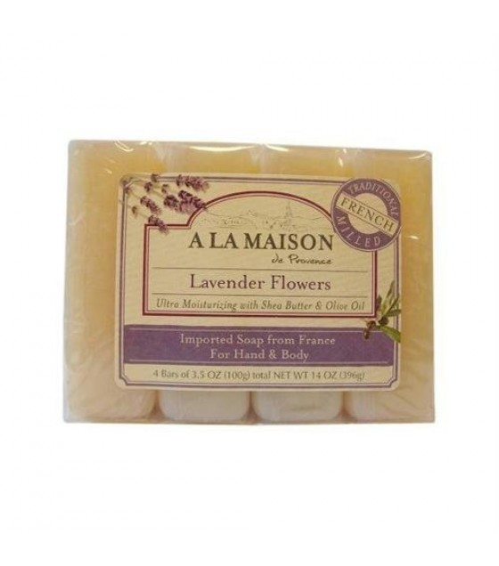 [A La Maison] BAR SOAP,VALUE PK,LAV FLW