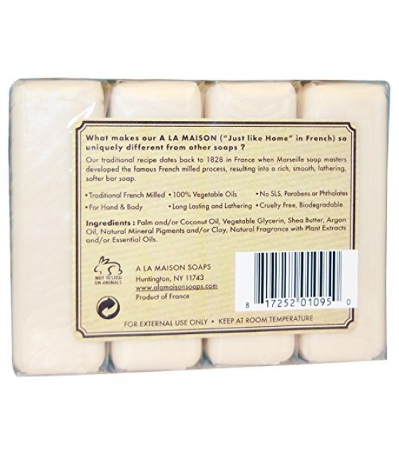 [a La Maison] Bar Soap,4 Bars,coconut