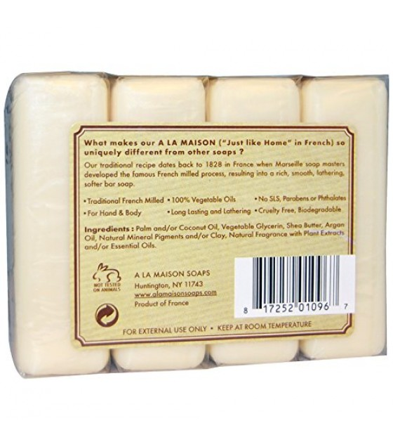 [a La Maison] Bar Soap,4 Bars,swt Almnd