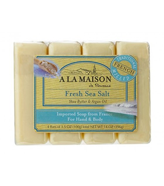 [a La Maison] Bar Soap,4 Bars,frsh Sslt