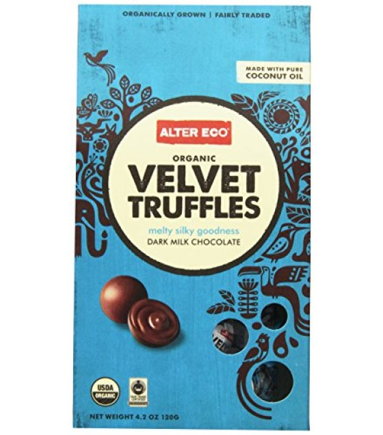 [Alter Eco] Chocolate Velvet Truffle, 10 Pack  At least 95% Organic