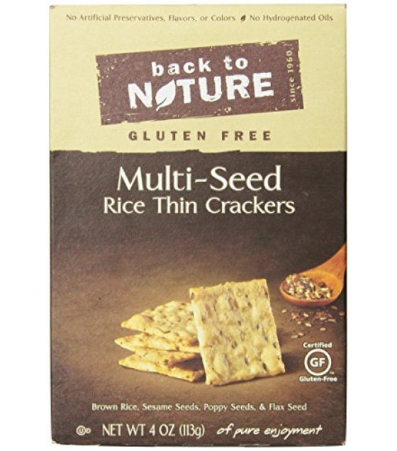 [Back To Nature] Crackers Rice Thin, Multi-Seed