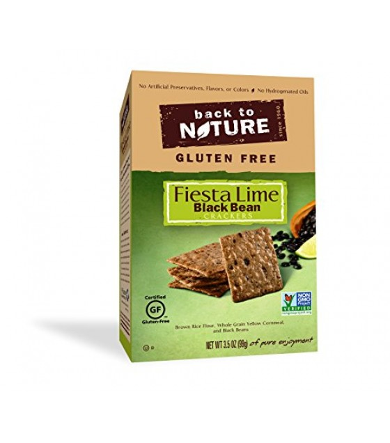 [Back To Nature] Rice Thin Crackers GF Fiesta Lime Black Bean
