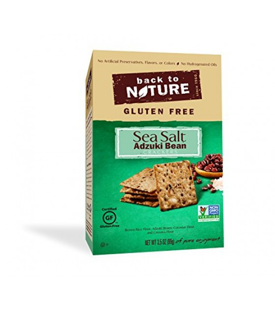 [Back To Nature] Rice Thin Crackers GF Sea Salt Adzuki Bean