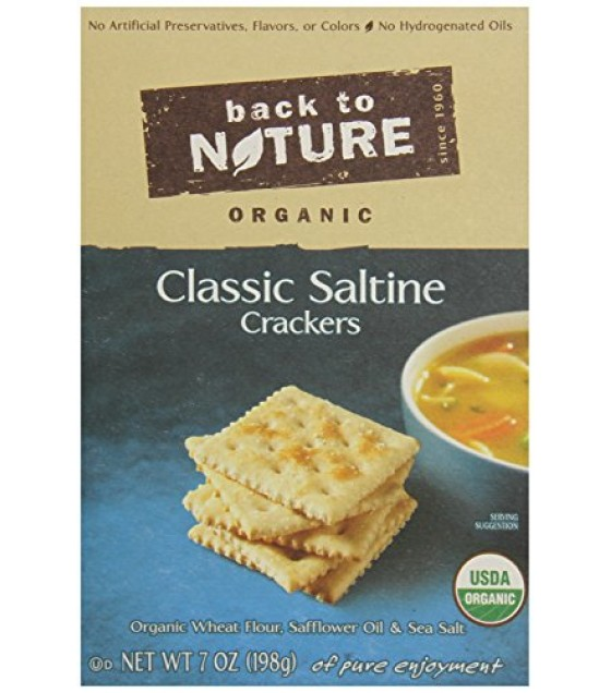 [Back To Nature] Crackers Saltine  At least 95% Organic