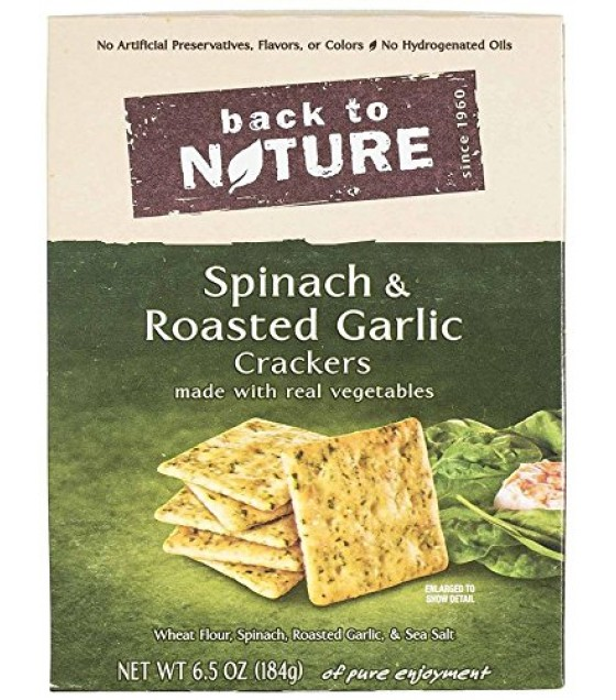 [Back To Nature] Crackers Spinach & Roasted Garlic