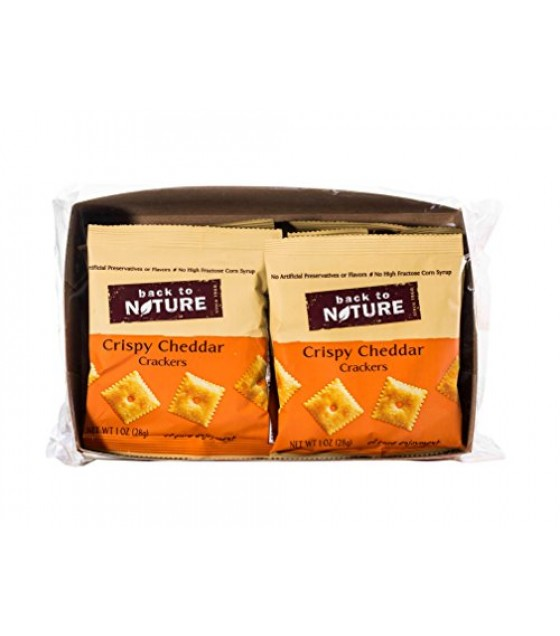 [Back To Nature] Crackers Crispy Cheddars Single Serve