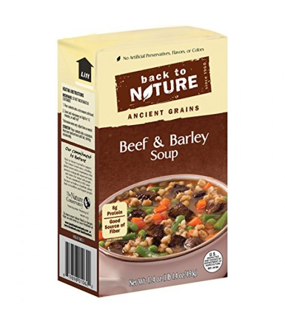 [Back To Nature] Reduced Sodium Soup Beef & Barley
