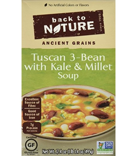 [Back To Nature] Reduced Sodium Soup Tuscan 3-Bean w/Millet GF