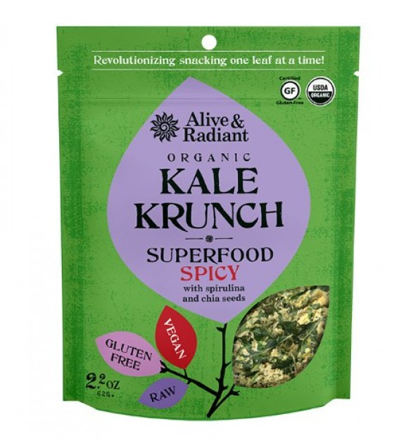 [Alive & Radiant Foods] Kale Krunch Spicy Kale Krunch, Superfood  At least 95% Organic