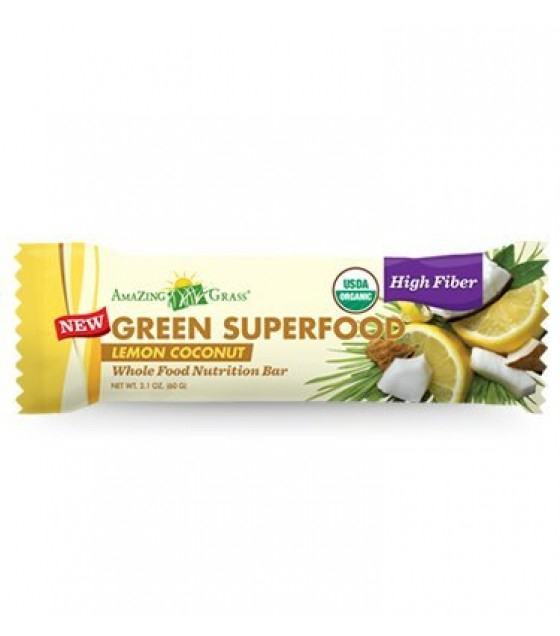 [Amazing Grass] Green Superfood Lemon Coconut  At least 95% Organic