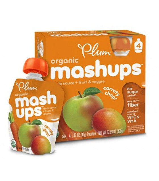 [Plum Kids] Fruit & Veggie Mashups Carroty Chop  At least 95% Organic
