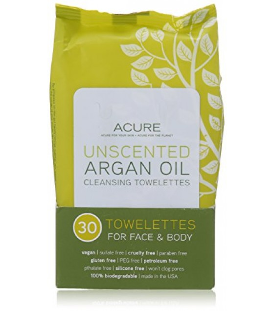 [acure] Towelettes,argan Oil,unsc