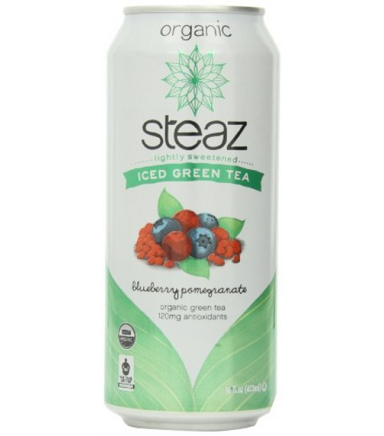 [Steaz] Iced Teaz Green Blueberry, Pomegranate  At least 95% Organic