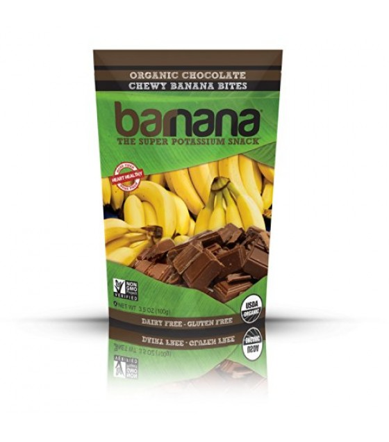 [Barnana]  Banana Bites,Chocolate,Chewy  At least 95% Organic