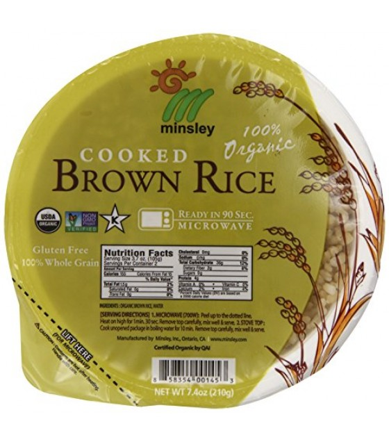[Minsley]  Brown Rice, Cooked  At least 95% Organic