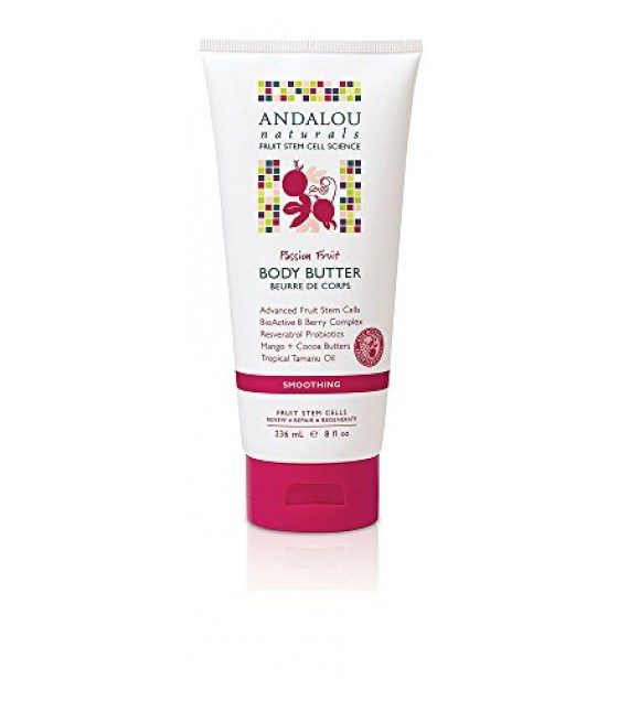 [Andalou Naturals] Body Butters Smoothing, Passion Fruit