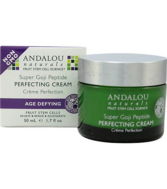 [Andalou Naturals] Facial Care Perfecting Cream, Spr Goji Peptide