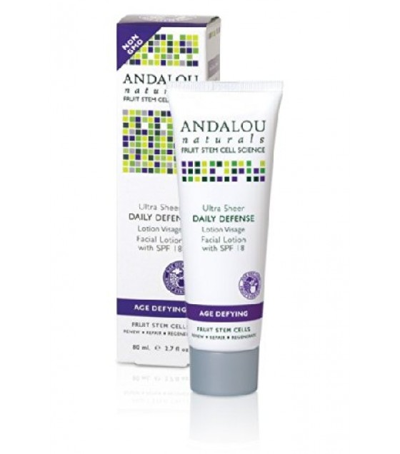 [Andalou Naturals] Facial Care Ltn, Dly Def Ultra Sheer SPF 18