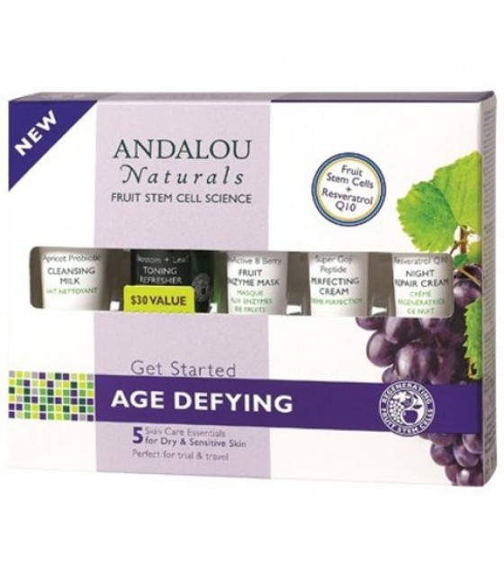 [Andalou Naturals] Facial Care Get Started Age Defying Kit