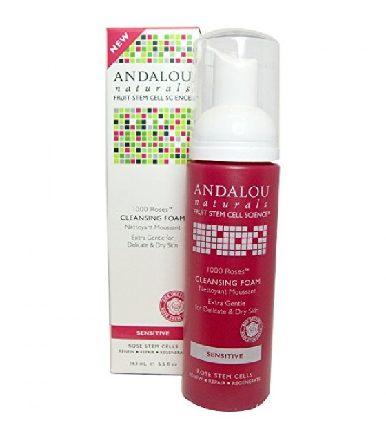 [Andalou Naturals] 1000 Roses Cleansing Foam, Sensitive