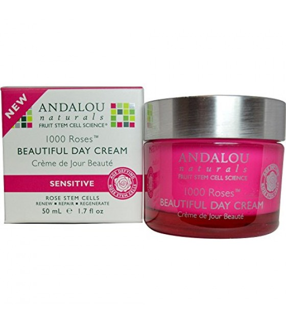[Andalou Naturals] 1000 Roses Beautiful Day Cream, Sensitive