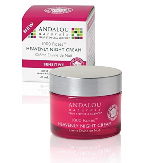 [Andalou Naturals] 1000 Roses Heavenly Night Cream, Sensitive
