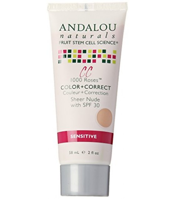[Andalou Naturals] Color + Correct Sheer Nude, SPF 30, Sensitive