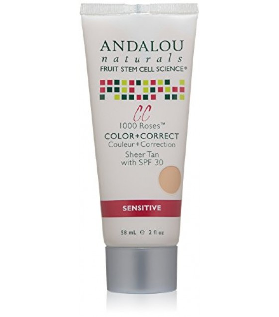 [Andalou Naturals] Color + Correct Sheer Tan, Spf 30, Sensitive