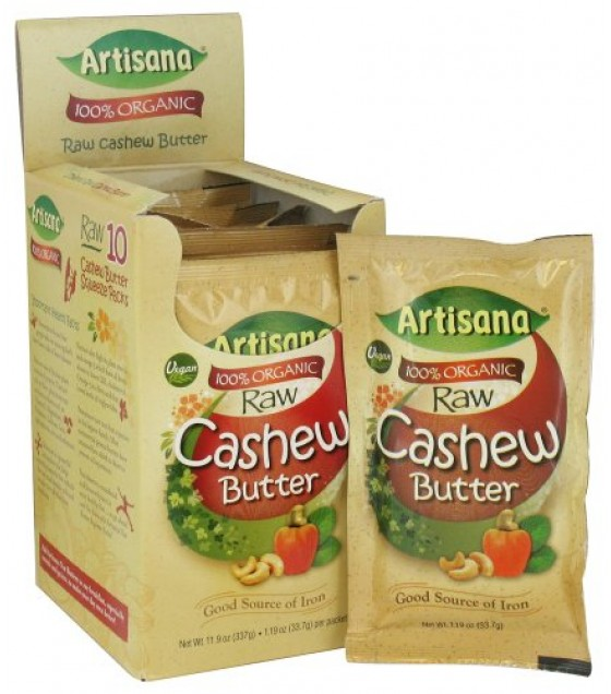 [Artisana] Nut Butters Cashew, Raw, Squeez Pack  At least 95% Organic