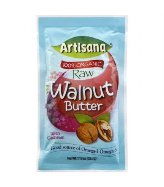 [Artisana] Nut Butters Walnut, Raw, Squeez Pack  At least 95% Organic