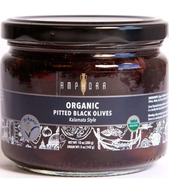 [Amphora] Olives Black Pitted  100% Organic