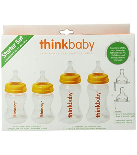 [Thinkbaby] BPA Free Feeding Separates Bottle Starter Kit