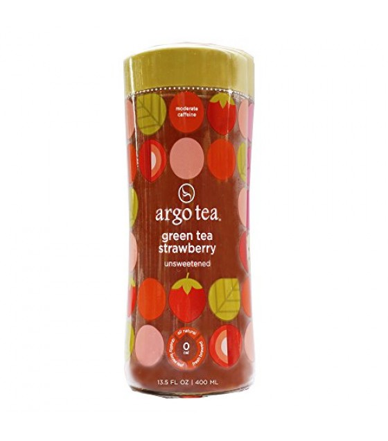 [Argo Tea] Ready To Drink, Unsweetened Green Tea Strawberry