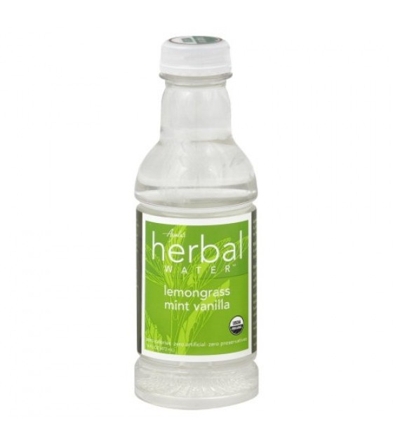 [Ayala`S Herbal Water] Naturally Enhanced Flavored Water Lemongrass Mint Vanilla  At least 95% Organic